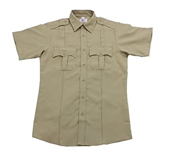 First Class Short-Sleeve Uniform Shirt M Tan