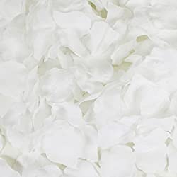 Koyal Wholesale 200-Pack Silk Rose Petals, Snow White
