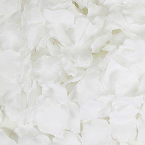 Koyal Wholesale 200-Pack Silk Rose Petals, Snow White