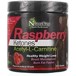 NutraKey Raspberry Keotone Plus Acetyl L-Carnitine, 37.5-Gram