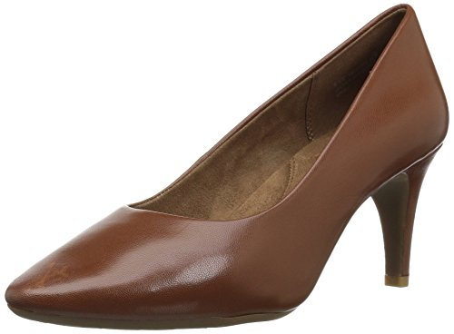 Aerosoles Women's Exquisite Pump, Dark Tan Leather, 8.5 M US