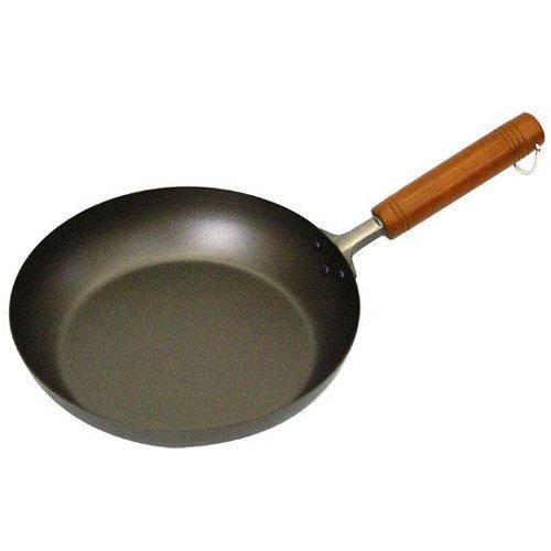 Pure Titanium 24cm Frying Pan wood handle Amazing Lightness by Hase original