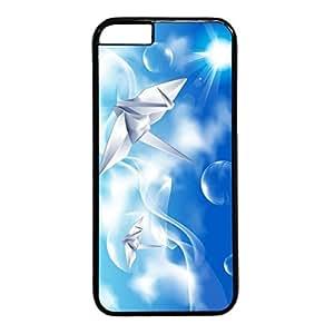 Sweet Love Design PC Black Case for Iphone 6 Paper Crane wangjiang maoyi