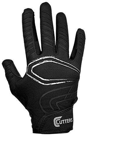 Cutters Gloves Youth REV Receiver Glove (Pair), Black, (Goose Black Gloves)