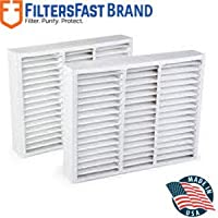 FiltersFast Compatible Replacement for Honeywell FC100A1011 20 x 20 x 5 (Actual Size: 19 1/2 X 20 X 4 3/8) , 2-Pack MERV 11