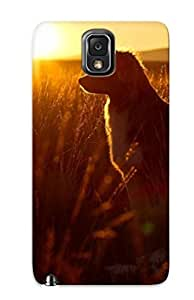New Border Collie In The Sunset Tpu Case Cover, Anti-scratch Podiumjiwrp Phone Case For Galaxy Note 3