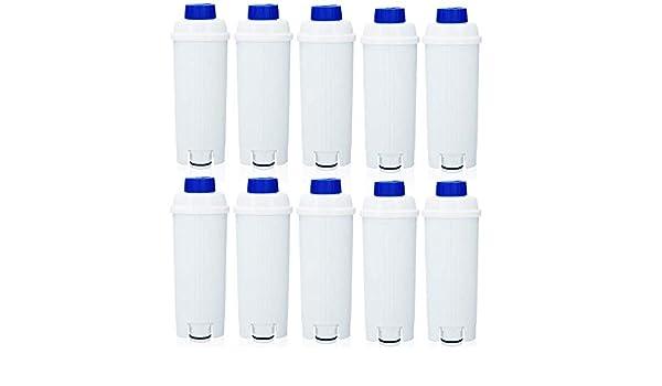 10 Filtros de Agua para Cafetera DeLonghi Filtro DLSC002 con ...