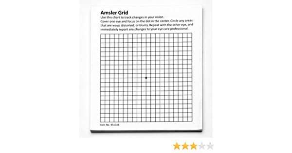 Amazon Hps Amsler Grid 50 Sheet Pad With Magnet Health