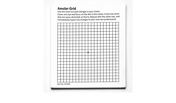 Amazon Hps Amsler Grid 50 Sheet Pad With Magnet