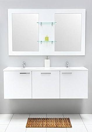 Amazon De Badmobel Set Mit Waschbecken Spiegel Unterschrank Doppel