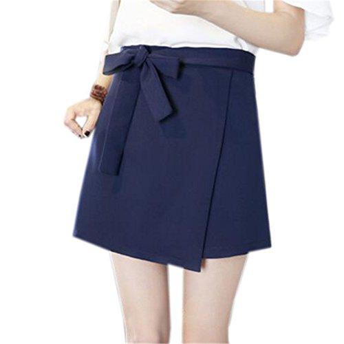 Jupe Haute Jupe Couleur Aoliait Femme t Jupe Blue3 Taille Line en Jupe Mini Court Jupe Unie A Taille Amincissante Femelle Grande ZwBUxw