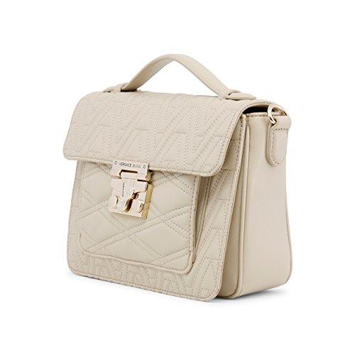 Versace sac Jeans imprimé stores géométrique femme beige Petit Sp 4z6qR6
