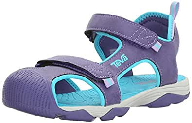 Teva Boys' Toachi 4 Sandal Purple/Scuba Blue 5 M US Big Kid