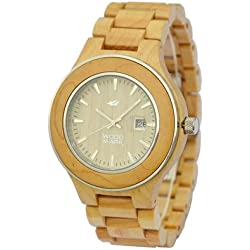 Wood Mark ZS-W1000A Mens Voyager Maple wood Watch