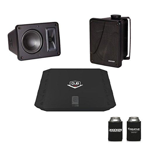 Kicker KB6000 Black Outdoor Speakers with Dub 480 Watt ()