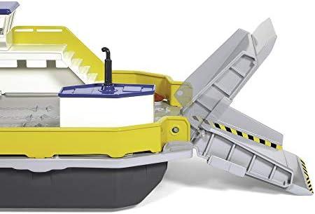 SIKU 1750, Autofähre, 1:50, Metall/Kunststoff, Inkl. 2 Spielzeug-Autos, Gelb/Grau, Schwimmfähig, Bewegliche Rampen
