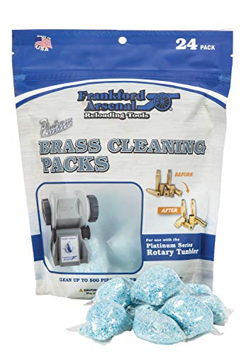 Frankford Arsenal Platinum Series 24 Count InstaClean Brass Cleaning Packs with Resealable Bag for Convenient Reloading Transport and Storage - Made in USA ()