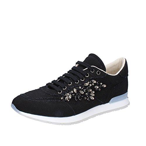 Set Nero Donna Twin 36 EU Tessuto Sneakers RwqXdxT