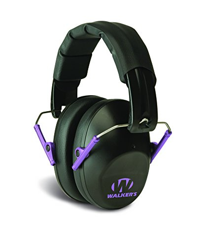 Walkers Game EarWalker's Pro-Low Profile Folding Muffs, Purple Accent