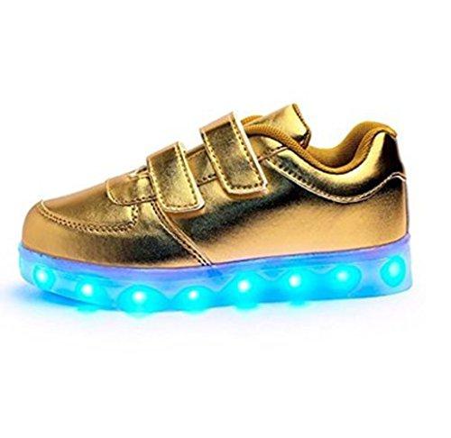 [Present:kleines Handtuch]JUNGLEST® 7 Farben LED Kinder, Jungen, Mädchen führte leuchten Trainer Sneakers Turnschuhe Sportschuh c28
