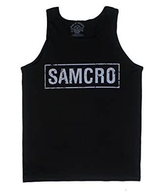 Sons Of Anarchy Samcro Boxed Shield Jersey Tank Top Authentic Adult Shirt NEW XL
