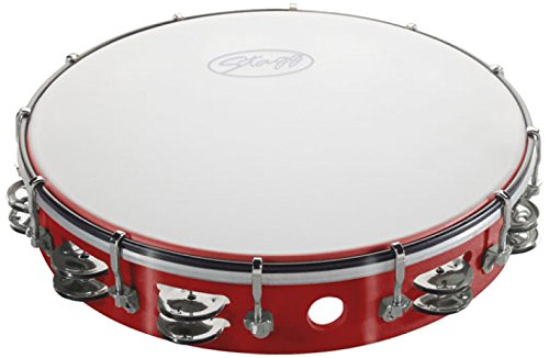 Stagg TAB-212P/RD Tunable Tambourine with 2 Rows of (Tunable Tambourine)