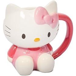 Hello Kitty Taza con diseño de en 3D, Color Blanco y Rosa
