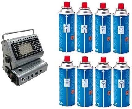 Poêle Campingaz chauffage à gaz Portable Double attaque gPL/Butane + 8 Cartouche originale en hommage