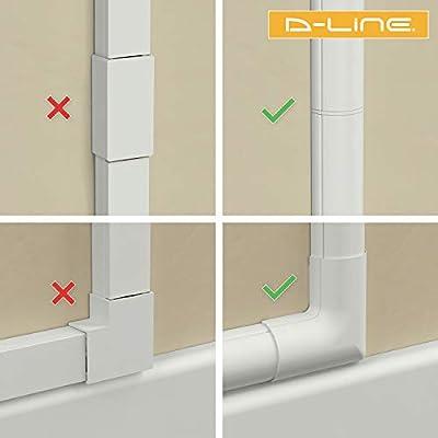 D-Line 3015KIT001 Multipack de Canaleta para Cableado, Blanco, 30x15mm (Mini), Set de 4 Piezas: Amazon.es: Bricolaje y herramientas
