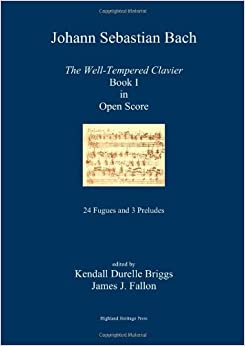 Book Johann Sebastian Bach The Well-Tempered Clavier Book I in Open Score