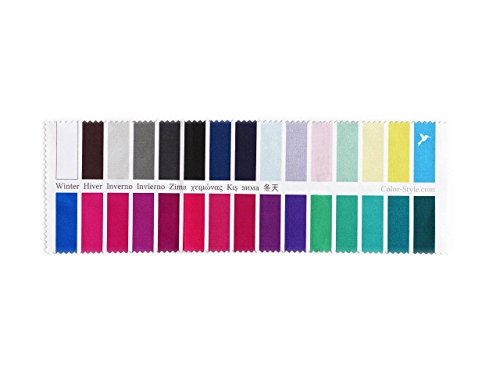 Handy Fabric Color Swatch Cool (True) Winter with 30 Colors for Color Analysis and Image Consulting