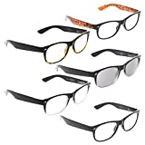 READING GLASSES 5 pack Classic Style Include Sun Readers +2.25