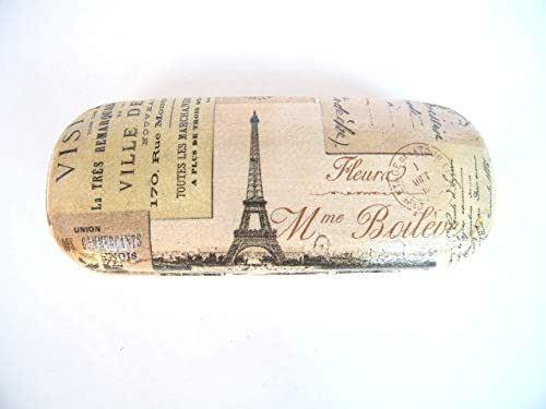 Paris Estuche De Gafas, Funda Dura Para Gafas 16 cm, Vision Accesorios Para Mujer, Gafas Graduadas, Paris Vintage Card, Eiffel Tower Glasses Case: Amazon.es: Handmade