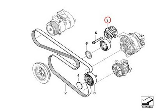 Amazon Com Bmw Oem Drive Belt Tensioner With Pulley