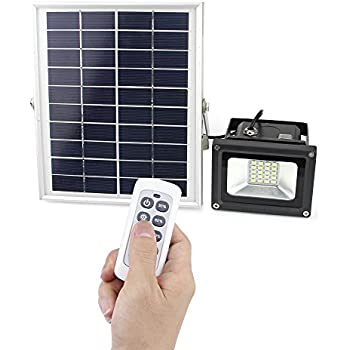 Solar powered flood lights outdoor remote control solar light ip67 lineway solar flood light outdoor led solar remote sensor security floodlight 10w 450 lumen ip65 waterproof solar powered lights for night lighting of aloadofball Images