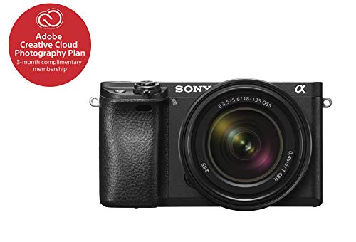 "Sony Alpha a6300 Mirrorless Camera Interchangeable Lens Digital Camera with APS-C, Auto Focus & 4K Video - ILCE 6300M Body with 3"" LCD Screen & 18-135mm Zoom Lens - E Mount Compatible - Black"