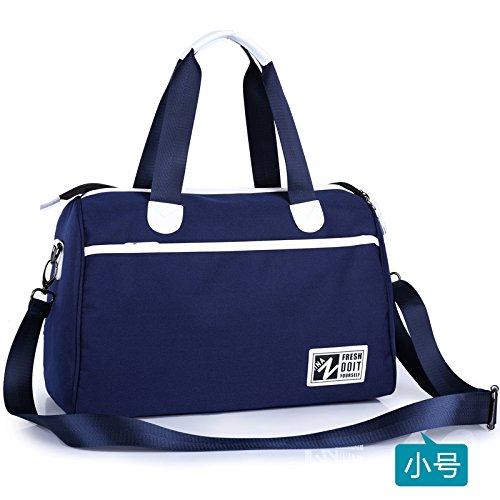 SunBao Men's Fitness Deportes bolsa Petate pequeño bolso de viaje y de mano ligero lienzo Coreano de sprint, Azul - Pequeño, Mediano InBlue - Pequeño