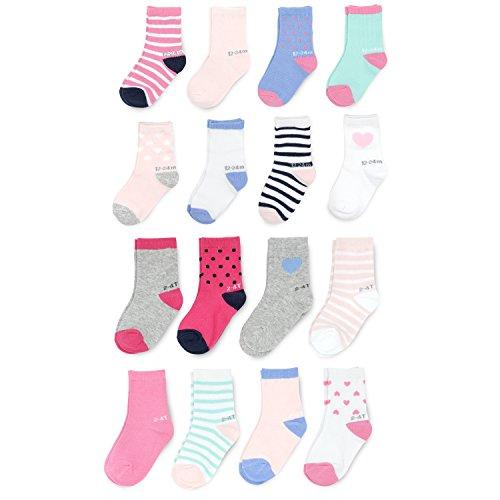 Goldbug Baby Girls 16-Pack Multi Size Socks