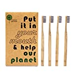 New Launch Special · Eco Toothbrushes by Mother Earther · Natural Sustainable Bamboo · Charcoal Infused Bristles · Sleek Design · 4 Pack · We Love Our Planet, Do You? · Portion of Profit to Charity
