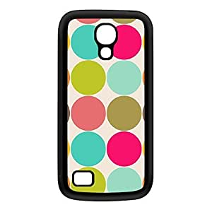Cute Colorful Polka Dot Pattern Black Silicon Rubber Case for Galaxy S4 Mini by UltraCases + FREE Crystal Clear Screen Protector