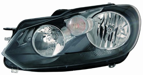 Depo 341-1127L-AS2 Volkswagen Golf/GTI Driver Side Composite Headlamp Assembly with Bulb and Socket Composite Headlamp