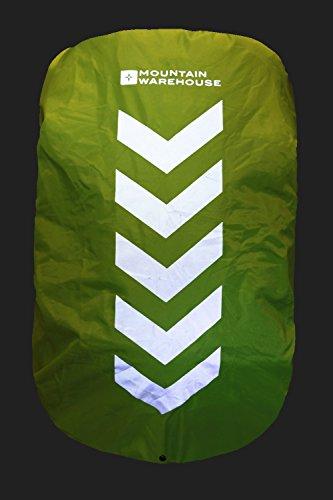 Mountain Warehouse Cubierta para la lluvia para mochila de 35 a 55 litros Iso-Viz Amarillo Talla única Amarillo