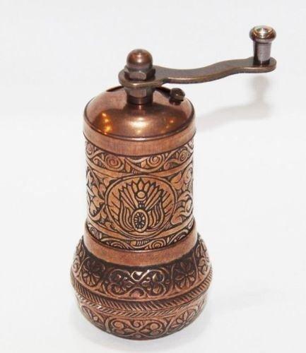Brass Turkish Pepper Salt Spice Grinder Mill by Myturkishmall
