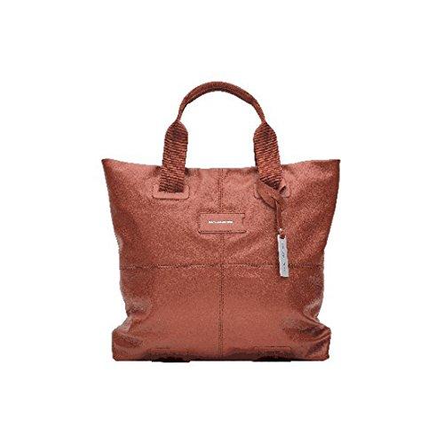 Shopping bag media Piquadro, colore arancio BD2587W48-AR