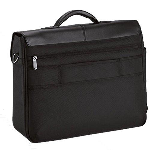 D&N - Aktentasche - Laptopfach - iPad-Fach - Organizer - 45 x 35 x 13 cm - schwarz