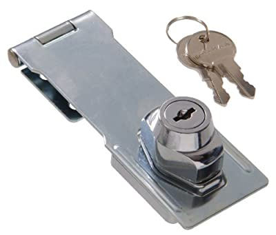 The Hillman Group 851426 3-1/2 Gate Keyed Safety Hasp - Chrome Finish 1-Pack