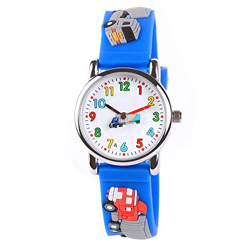 Venhoo Kids Watches Cute 3D Cartoon Waterproof Silicone Children Toddler Wrist Watch Time Teacher Birthday Gift 3-10 Year Boys Girls Little Child