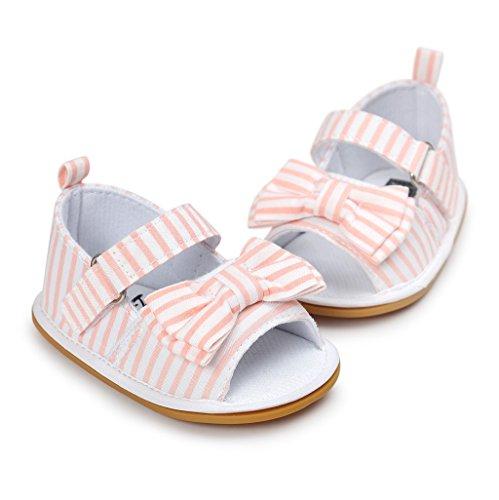Bebé Prewalker Zapatos Auxma Primeros caminante de la princesa del niño del bebé zapatos Sandalias de los zapatos del arco para 0-6 6-12 12-18 meses A