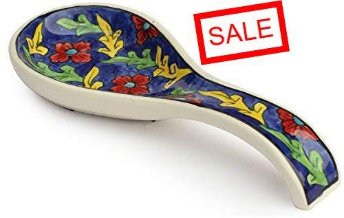 Decorative Spoon Rest Ceramic Resting Cooking Spoons, Utensils, Ladle, Kitchen Spoon Holder for Stove Top