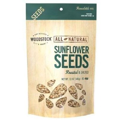 Woodstock Farms All Natural Roasted and Salted Sunflower Seed, 12 Ounce - 8 per case. by Woodstock